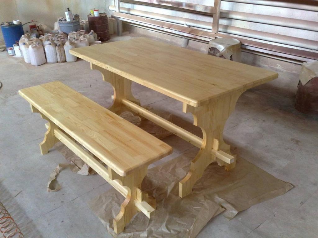 Деревянные столы из дерева своими руками