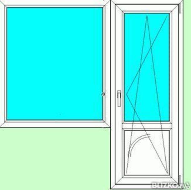 Балконный блок пвхalpenprof1350х1370 дверь 650х2100 5 каме.