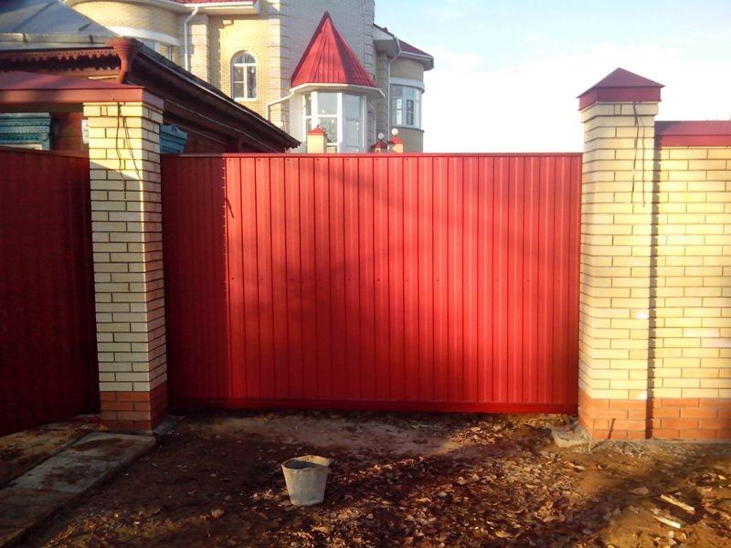 Откатные ворота иваново цена для ворот устройство откатных фундамента
