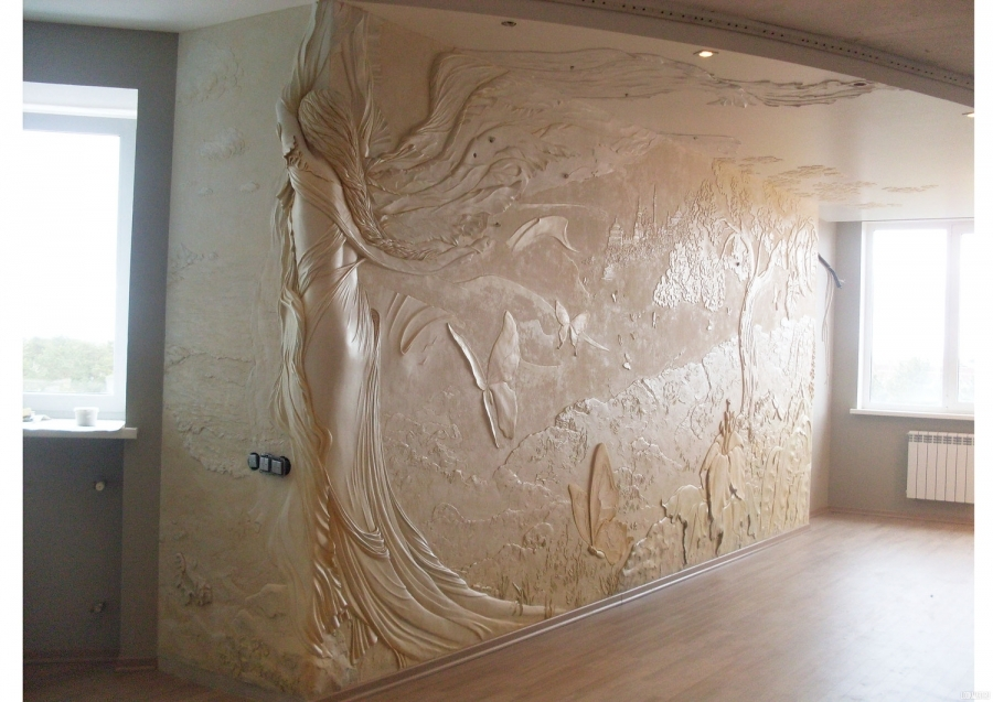 Художественная лепка на стенах