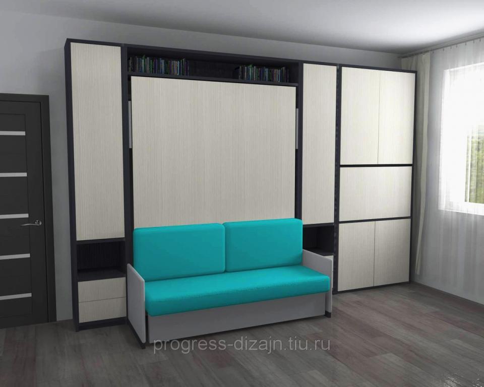 Подъемная кровать с диваном купить в москве