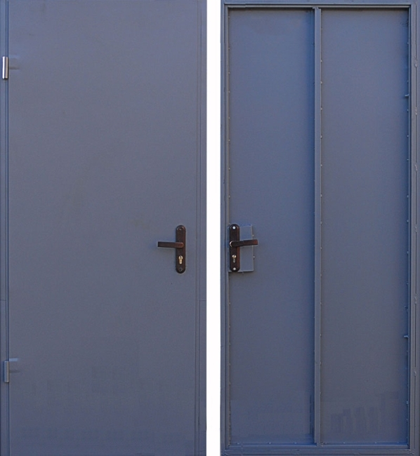 двери металлические без отделки простые