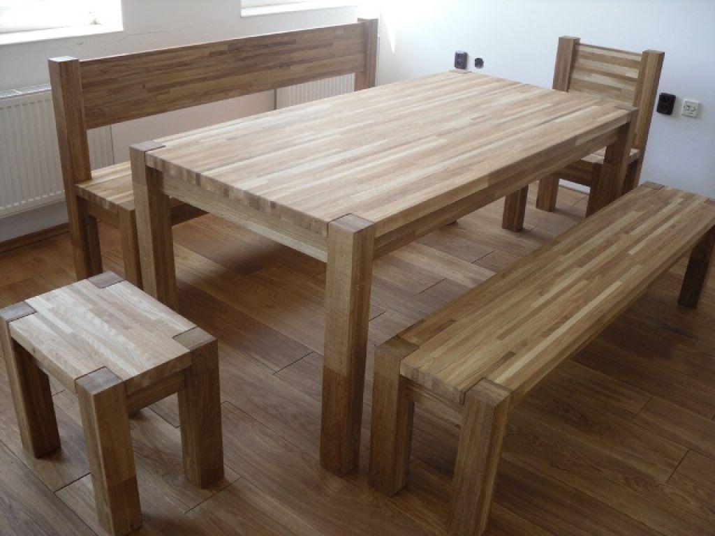 Стол обеденный для кухни из мебельного щита
