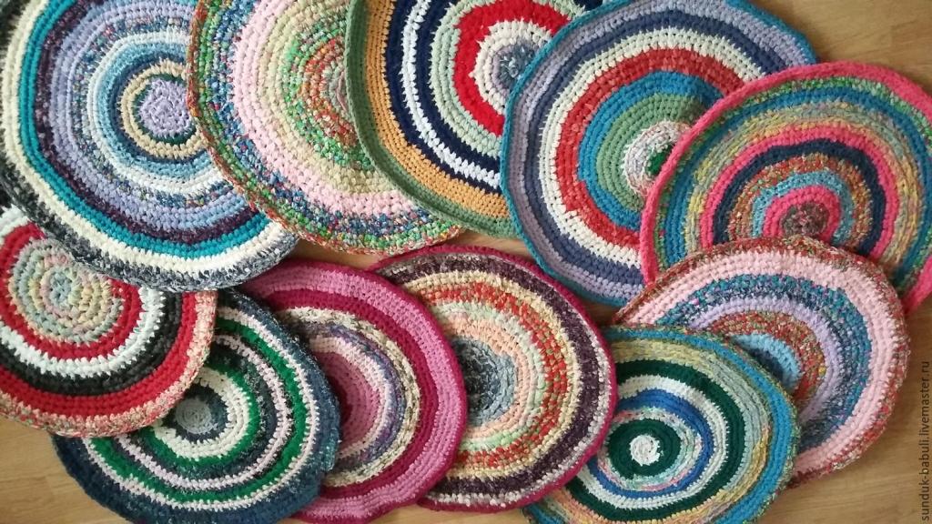 Видеоуроки по вязанию ковриков крючком