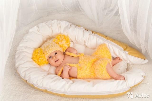 Гнездышко кокон для новорожденного своими руками