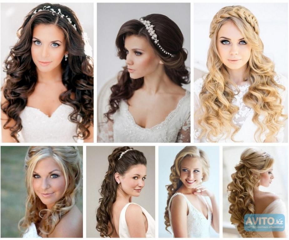 Красивые прически на длинные волосы на свадьбу