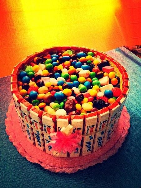 Сладкие торты из конфет фото