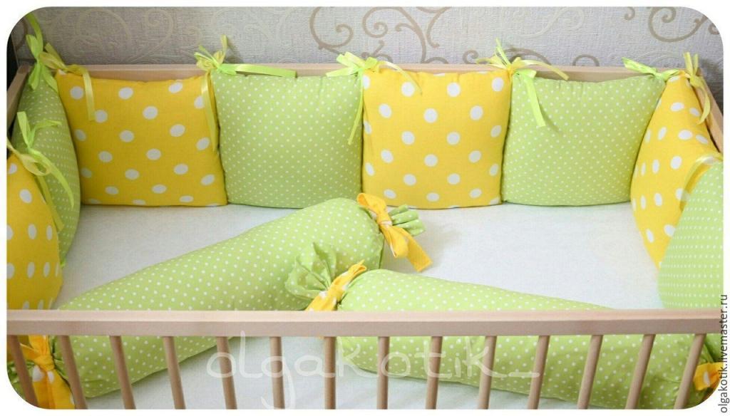 Бортики подушки своими руками