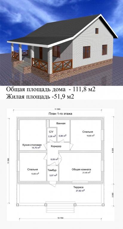 проекты простых деревянных домов