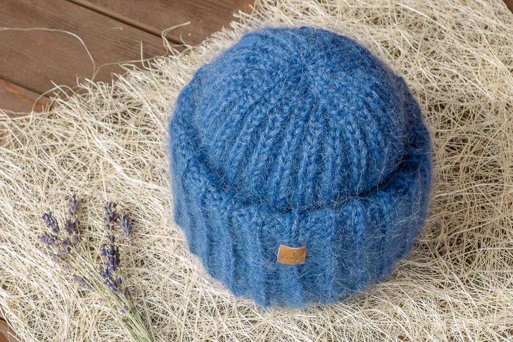 Вязание шапки с отворотами 949