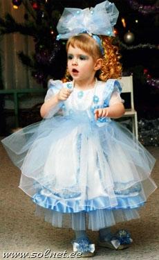 Платье на новый год в садик своими