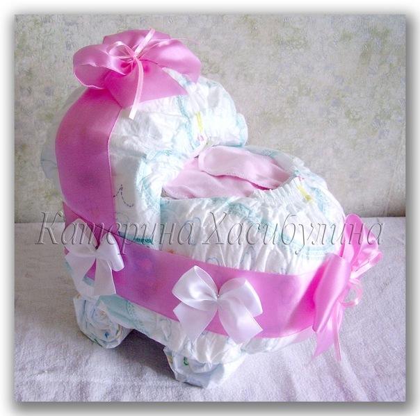 Подарки для девочки из памперсов своими руками пошагово