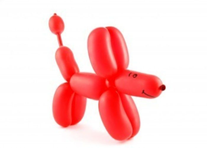 Собака из шариков колбасок