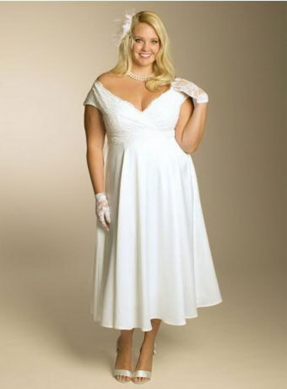 Фото платьев для полных для свадьбы
