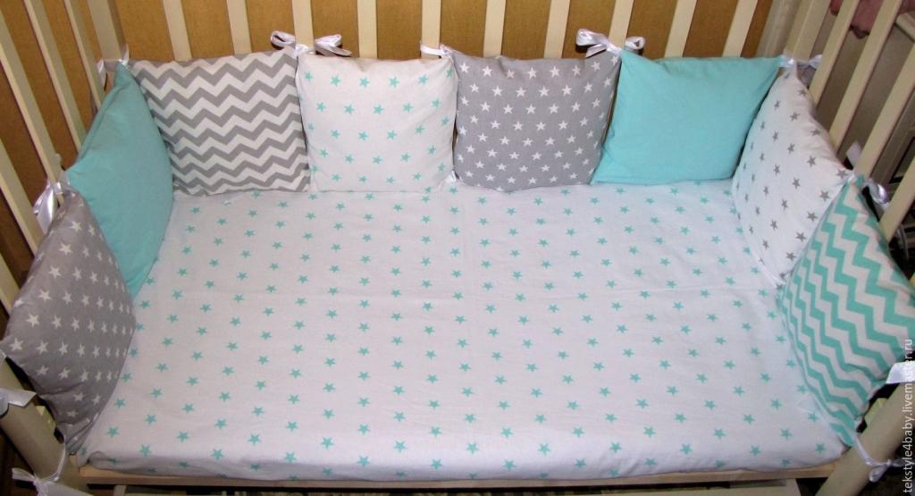 Бортики-подушки в кроватку своими руками пошагово