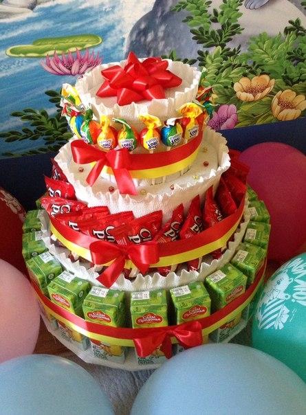 Детский торт на день рождения  мастер класс
