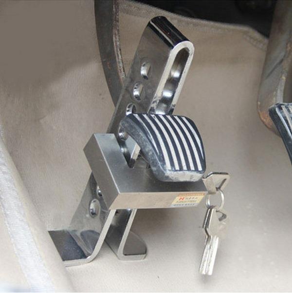 механические замки на педали от угона автомобиля непорядочно подвергать
