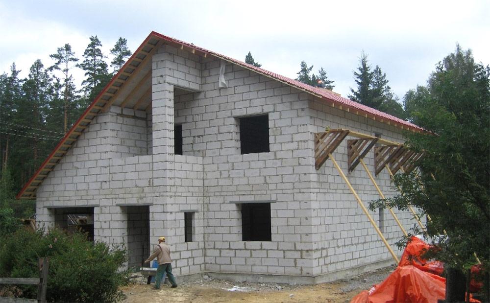 Дом 2 этажа с пеноблока своими руками
