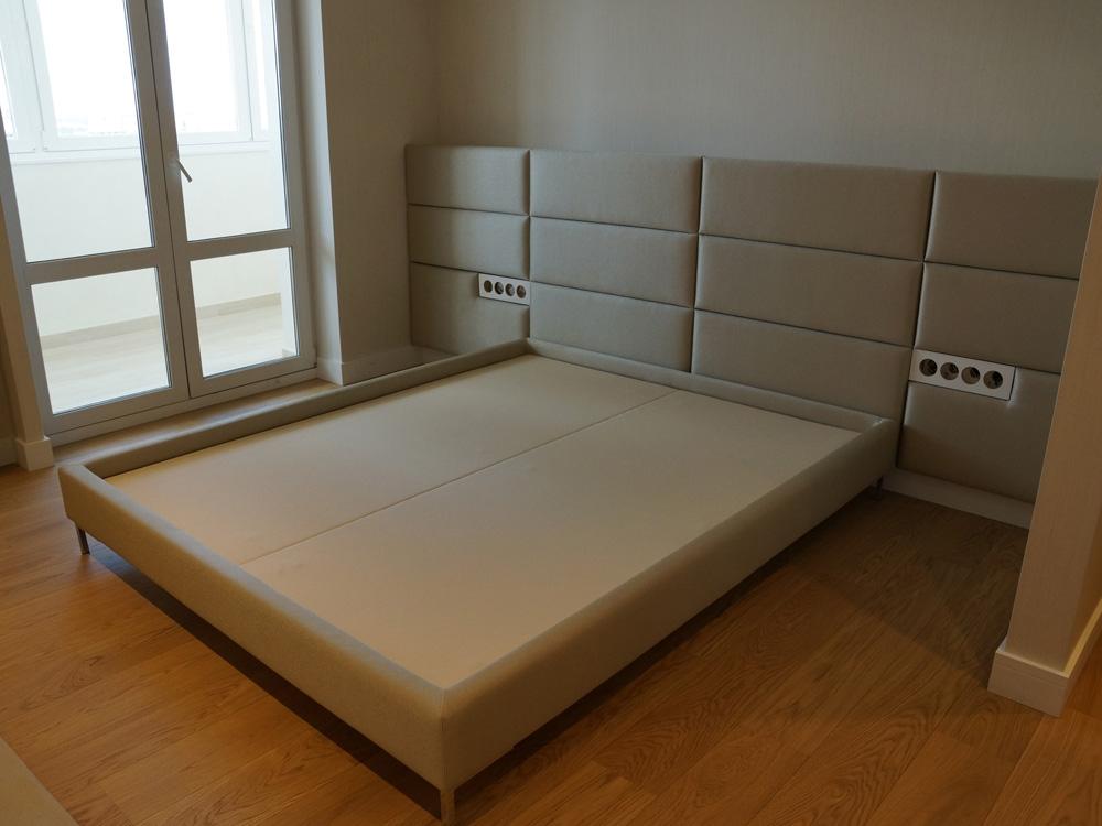 Мягкая панель для кровати своими руками 70