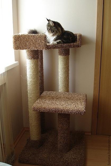Когтеточка с лежанкой для кошек своими руками