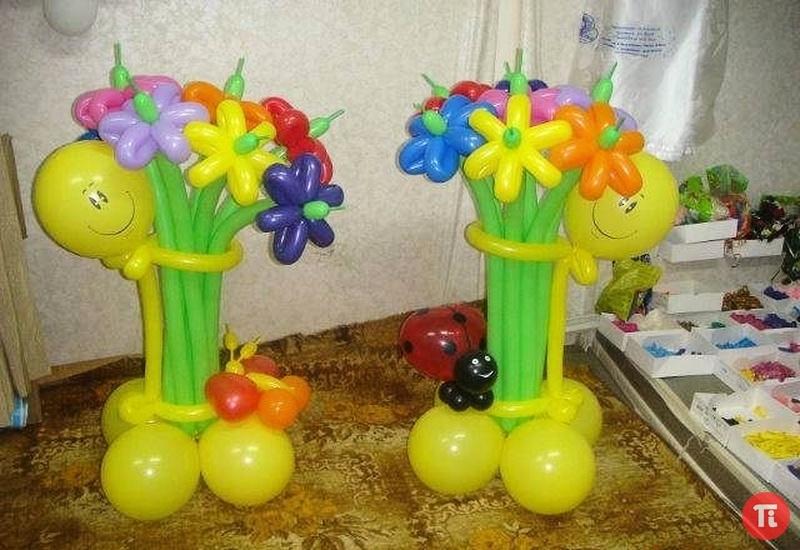 Как сделать цветок из воздушных шаров своими