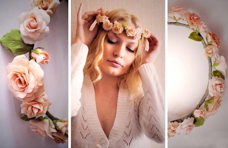 Цветы на ободке фото