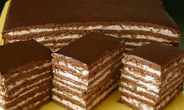 Торт медово-шоколадный фото