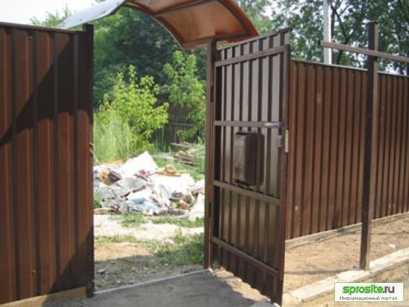 Ворота и калитка на даче видео фотогаллерея въездные ворота