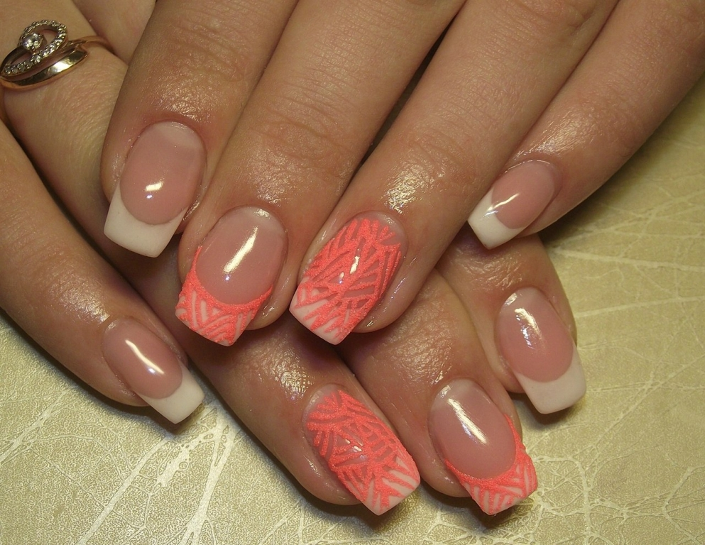 Ногти запечатанные гелем