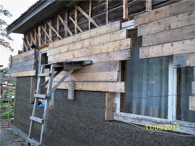 Как построить дом из опилкобетона
