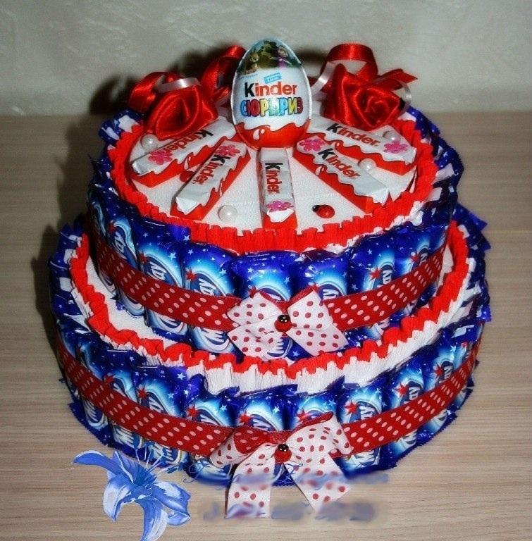 Торт конфетный своими руками