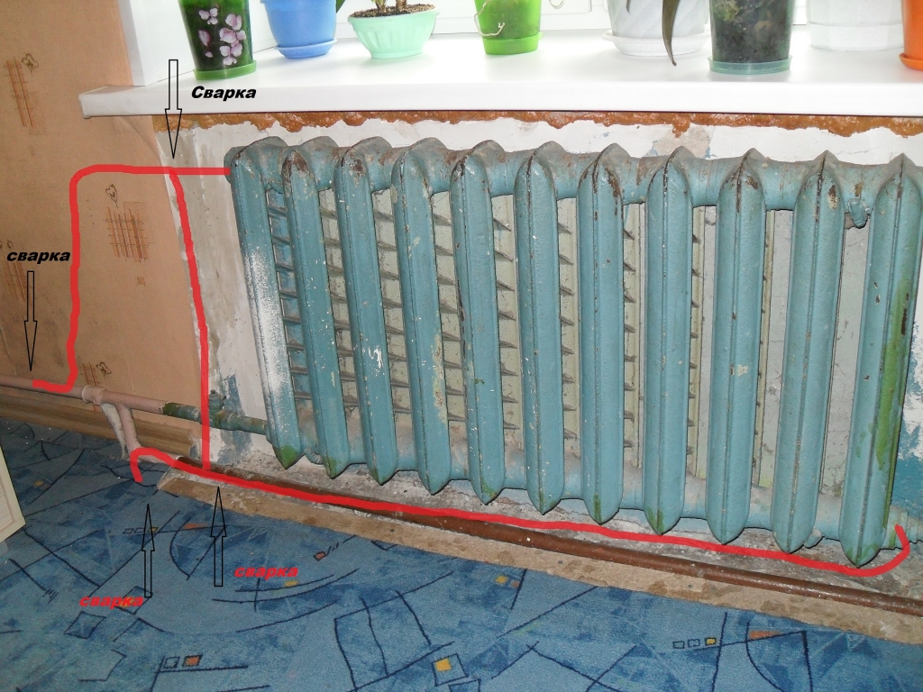 Своими руками замена радиаторов отопления