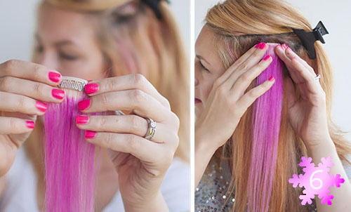 Волосы цветные на клипсах