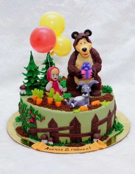 маша и фото медведь торт