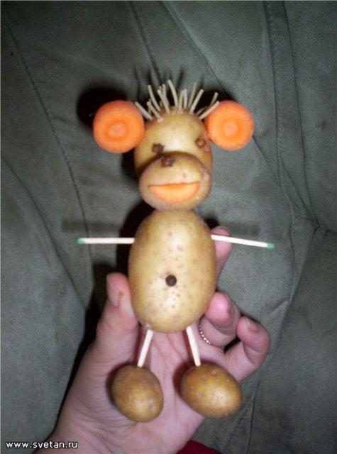 Поделки из картошки своими руками для школы фото