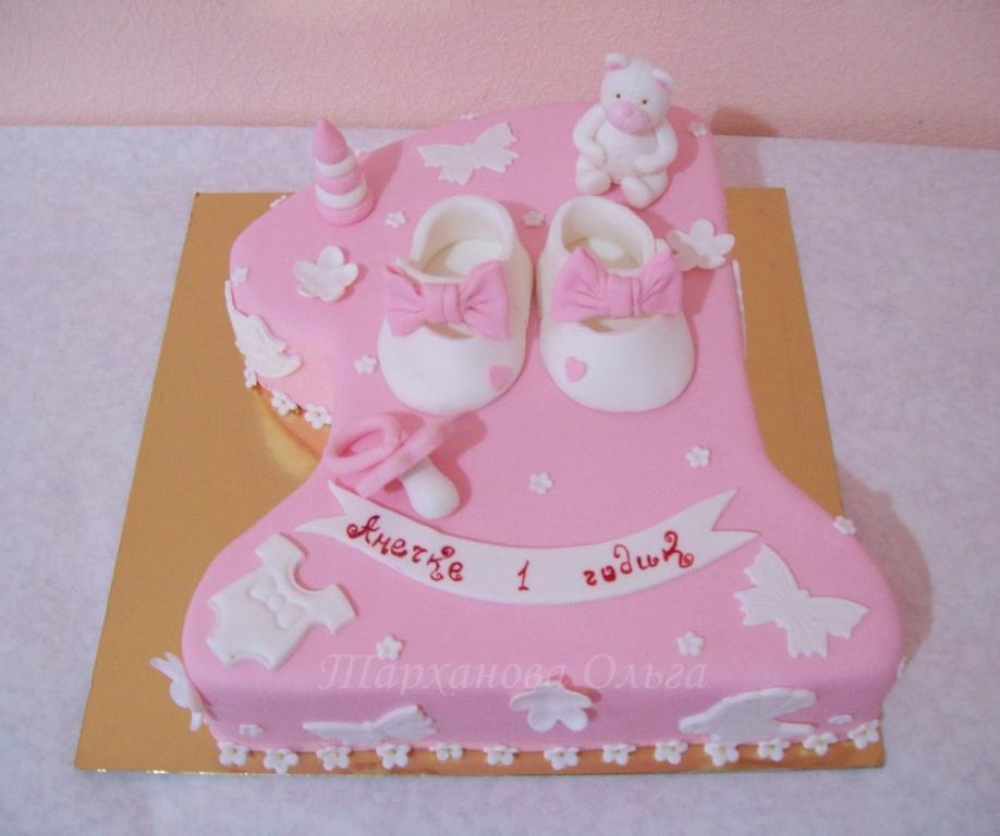 Торт на годик девочке (из мастики и без нее фото, рецепты)