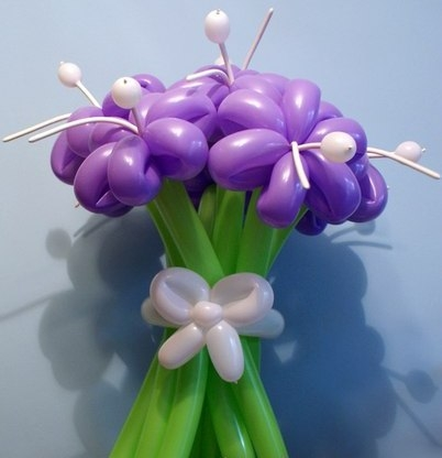 Цветы из шариков своими руками мастер класс фото