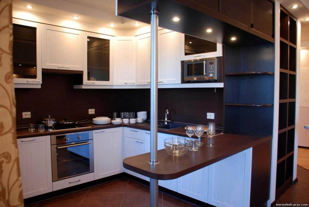 Кухня 10 кв м дизайн с барной стойкой