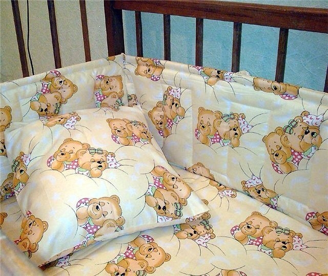 Сшить детское постельное белье в кроватку для новорожденных 668