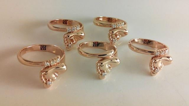 Подарок на рождение ребенка в Москве Купить кольца 15