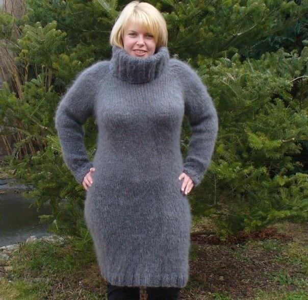 Мохер платье свитер