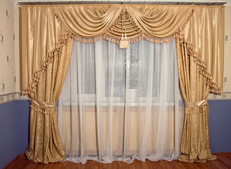 Дизайн пошива штор для гостиной