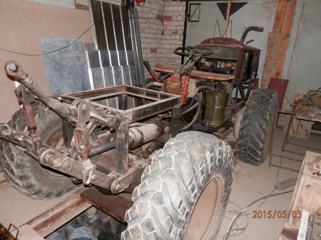 Самодельный трактор мосты от газ 66