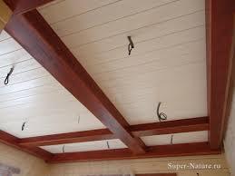 Потолок из имитации бруса своими руками 27