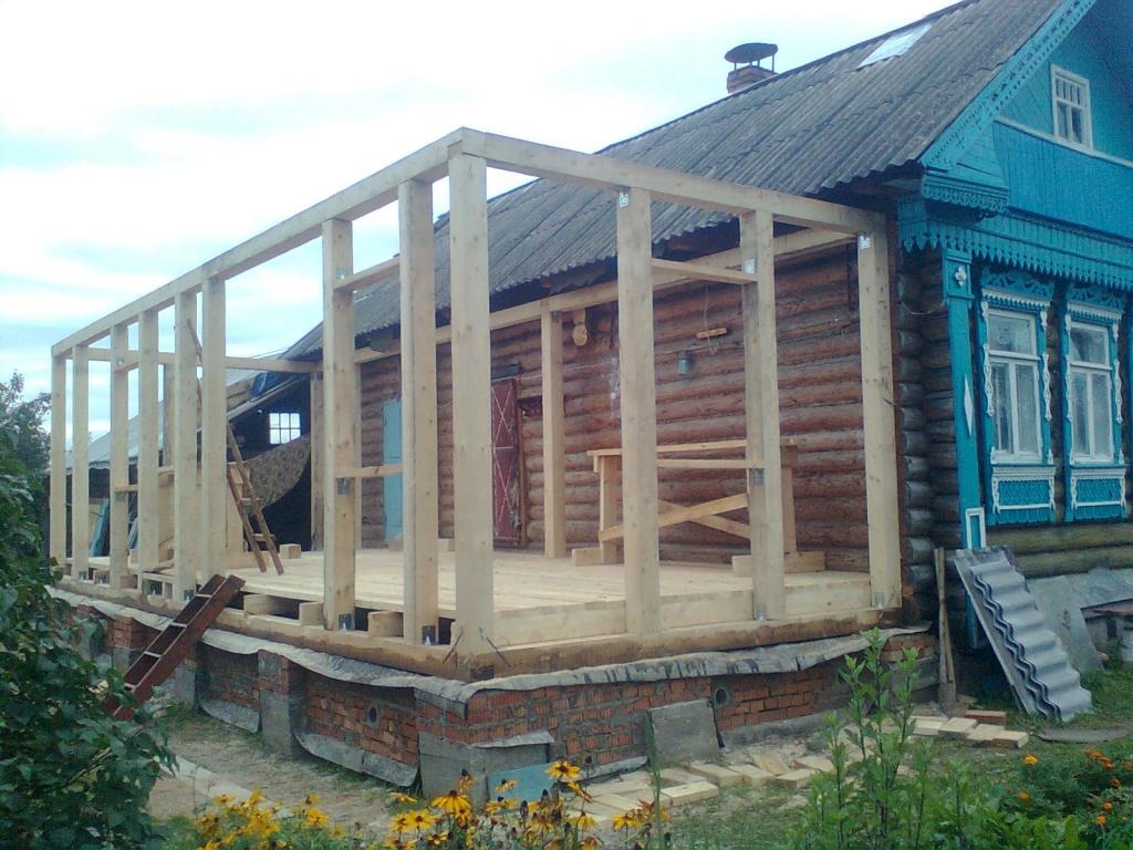 Теплый пристрой к деревянному дому своими руками 10