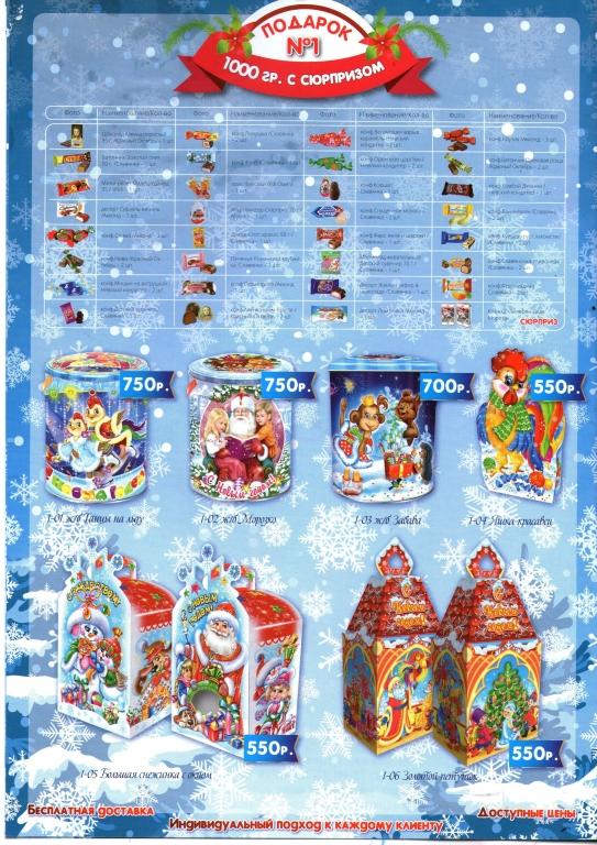 Новогодние подарки цены каталог 3