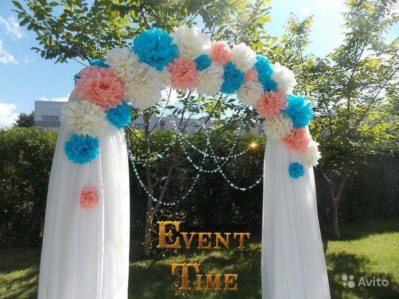 Свадебные арки своими руками из бумажных цветов