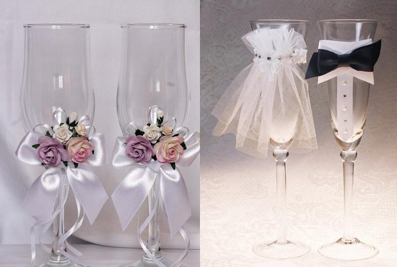 Свадебные бокалы как сделать самому