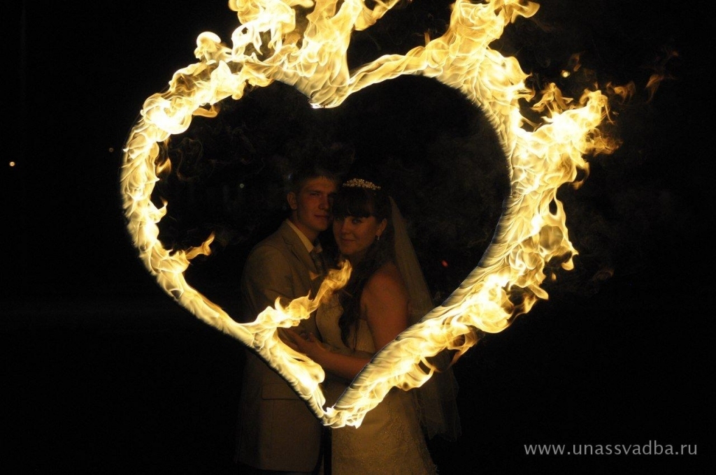 Сердце для свадьбы своими руками горящие