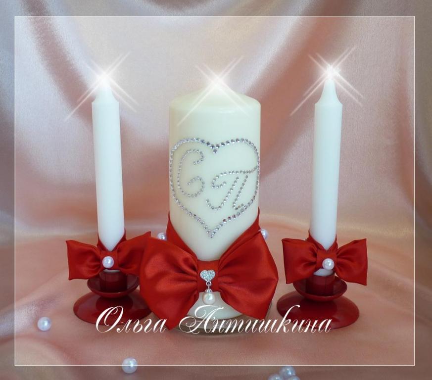 Cвадебные свечи своими руками: делаем, украшаем, идём 48